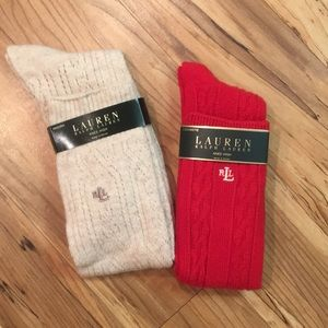 Cashmere & Wool Knee High Socks
